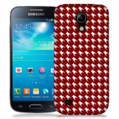Skal till Samsung Galaxy S5 Mini - Mönstrat tyg - Röd