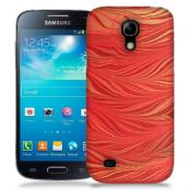 Skal till Samsung Galaxy S5 Mini - Vågor - Röd/Orange