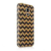 Skal till Samsung Galaxy S5 - Ränder - Guld/Svart