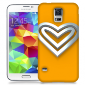 Skal till Samsung Galaxy S5 - Steel heart - Orange