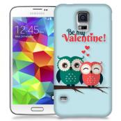 Skal till Samsung Galaxy S5 - Ugglor - Be my valentine