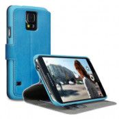 Slim Plånboksfodral till Samsung Galaxy S5 - Blå