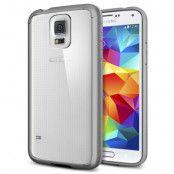 SPIGEN Ultra Hybrid skal till Samsung Galaxy S5 (Grå) + Skärmskydd