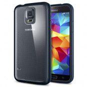 SPIGEN Ultra Hybrid skal till Samsung Galaxy S5 (Metal Slate) + Skärmskydd