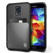 Verus Damda Skal med kortfack till Samsung Galaxy S5 - Silver
