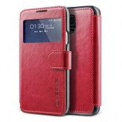 Verus Dandy Layered View Plånboksfodral till Samsung Galaxy S5 (Röd)