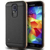 Verus Iron Shield Aluminum Metal Frame Skal till Samsung Galaxy S5 (Gold)