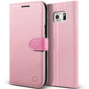 Lific Saffiano Plånboksfodral till Samsung Galaxy S6 Edge Plus - Rosa