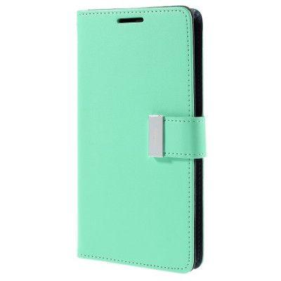 Mercury Rich Diary Plånboksfodral till Samsung Galaxy S6 Edge Plus - Turkos