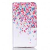 Plånboksfodral till Samsung Galaxy S6 Edge Plus - Colorful Petals