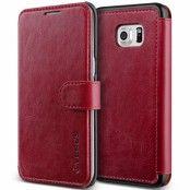 Verus Dandy Layered Plånboksfodral till Samsung Galaxy S6 Edge Plus - VinRöd
