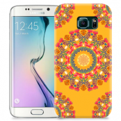 Skal till Samsung Galaxy S6 Edge + - Blommigt mönster - Orange
