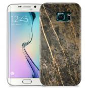Skal till Samsung Galaxy S6 Edge + - Marble - Brun