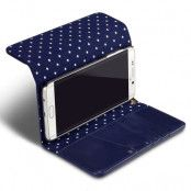 Trifold Plånboksfodral till Samsung Galaxy S6 Edge+ (Blå)