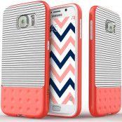 Caseology Riot Series BaksideSkal till Samsung Galaxy S6 - Stripped Vit