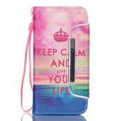 Detachable 2 in 1 Plånboksfodral till Samsung Galaxy S6 - Keep Calm