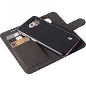 Krusell Malmö Wallet+Cover 2in1 Plånboksfodral för Samsung Galaxy S6, svart