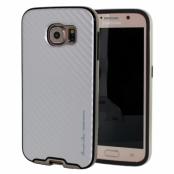 Mercury Bumper Skin Skal till Samsung Galaxy S6 - Vit/Guld