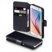 Plånboksfodral av äkta läder till Samsung Galaxy S6 - Svart