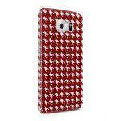 Skal till Samsung Galaxy S6 - Mönstrat tyg - Röd
