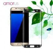 Amorus Skärmskydd i härdat glas till Samsung Galaxy S7 Edge - Svart