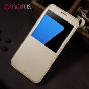 Amorus Slim Window Mobilfodral till Samsung Galaxy S7 Edge - Gold