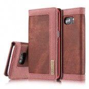 CaseMe Canvas Plånboksfodral till Samsung Galaxy S7 Edge - Röd