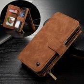 Caseme Plånboksfodral av läder till Samsung Galaxy S7 Edge - Brun