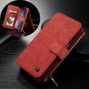 Caseme Plånboksfodral av läder till Samsung Galaxy S7 Edge - Röd