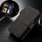 Caseme Plånboksfodral av läder till Samsung Galaxy S7 Edge - Svart