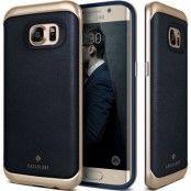 Caseology Envoy Äkta Läder Skal till Samsung Galaxy S7 Edge - Blå