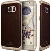 Caseology Envoy Äkta Läder Skal till Samsung Galaxy S7 Edge - Brun
