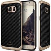 Caseology Envoy Äkta Läder Skal till Samsung Galaxy S7 Edge - Carbon Svart
