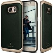 Caseology Envoy Äkta Läder Skal till Samsung Galaxy S7 Edge - Grön