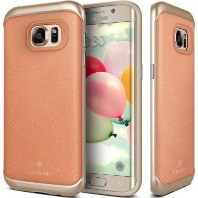 Caseology Envoy Äkta Läder Skal till Samsung Galaxy S7 Edge - Rosa
