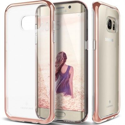 Caseology Skyfall Series Skal till Samsung Galaxy S7 Edge - Rose Gold