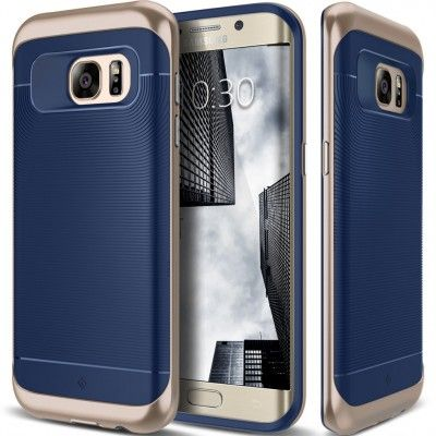 Caseology Wavelength Series Skal till Samsung Galaxy S7 Edge - Blå
