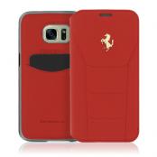 Ferrari 488 Book Case Fodral till Samsung Galaxy S7 Edge - Röd