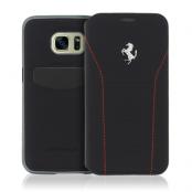 Ferrari 488 Book Case Fodral till Samsung Galaxy S7 Edge - Svart