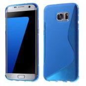 Flexicase Skal till Samsung Galaxy S7 Edge - Blå