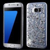 Glitter MobilSkal till Samsung Galaxy S7 Edge - Silver