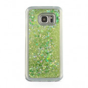 Glitter Skal till Samsung Galaxy S7 Edge -  Grön