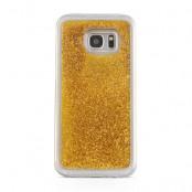 Glitter Skal till Samsung Galaxy S7 Edge -  Guld