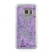 Glitter Skal till Samsung Galaxy S7 Edge -  Lila