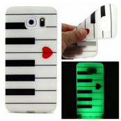 Glow-in-the-dark Skal till Samsung Galaxy S7 Edge - Piano