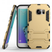 Kick-Stand Skal till Samsung Galaxy S7 Edge - Guld
