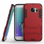 Kick-Stand Skal till Samsung Galaxy S7 Edge - Röd