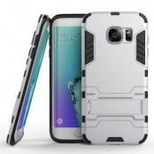 Kick-Stand Skal till Samsung Galaxy S7 Edge - Silver