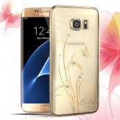 Kingxbar Skal med Swarovski Stenar till Samsung Galaxy S7 Edge - Fjäril