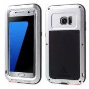 LOVE MEI extra tåligt skal till Samsung Galaxy S7 Edge - Silver